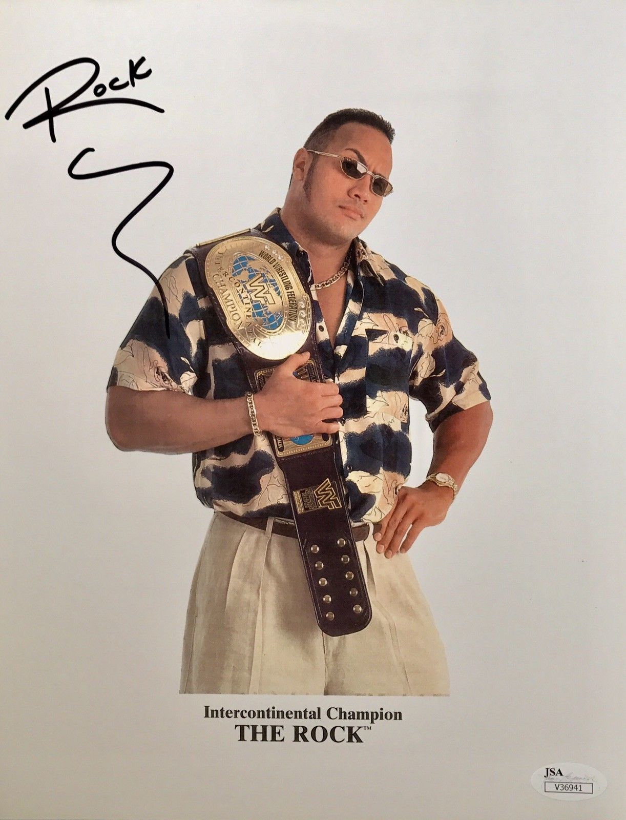 "Dwayne ""The Rock"" Johnson Authentic Signed 8 1/2 x 11 (JSA COA) WWE CHAMP ACTOR - Top Notch Signatures LLC"