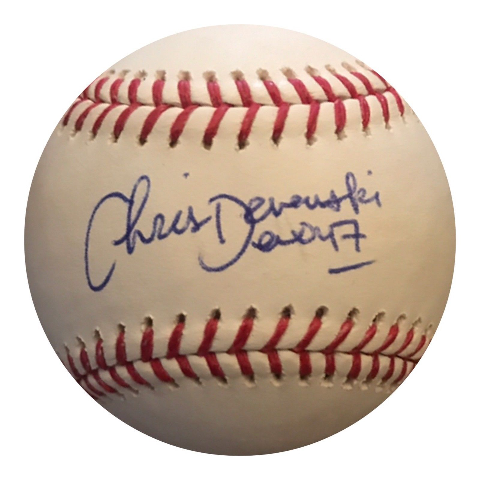 Chris Devenski Authentic Signed 2017 World Series Baseball (COA) HOUSTON ASTROS - Top Notch Signatures LLC