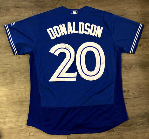 Josh Donaldson Signed Toronto Blue Jays Jersey (COA) MVP Atlanta Braves All Star - Top Notch Signatures LLC