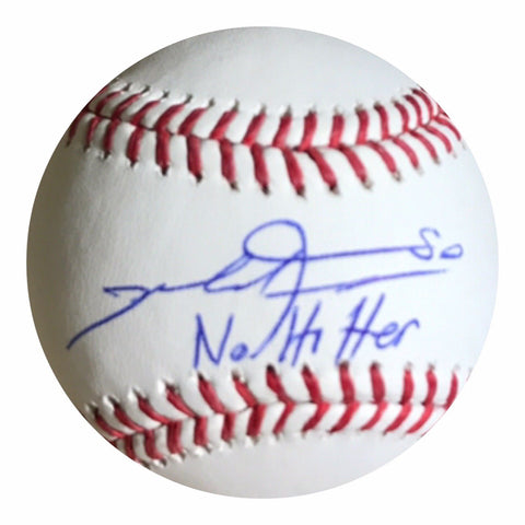 Mike Fiers Authentic Signed MLB Baseball (COA) Houston Astros No Hitter Insc.