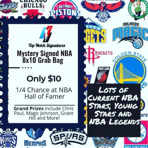 (1) Top Notch Signatures Mystery Signed NBA Basketball 8x10 Photo HOF Etc. - Top Notch Signatures LLC