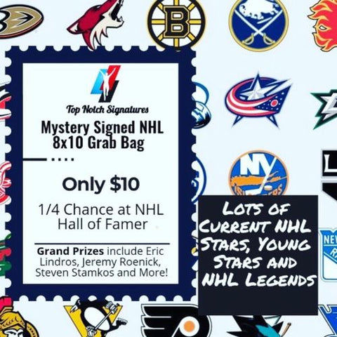 (1) Top Notch Signatures Mystery Signed NHL Hockey 8x10 Photo HOF Etc. - Top Notch Signatures LLC