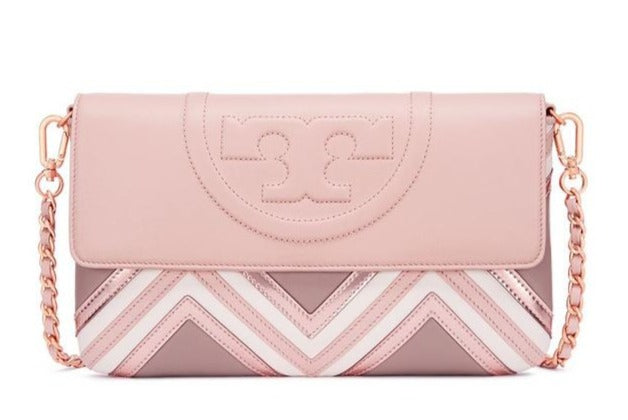4ed7439fcafc ... Tory Burch FLEMING GEO-LEATHER CLUTCH - LuxSAR ...