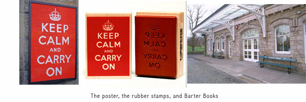 keep calm and carry on rubber stamps