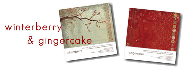 memory box paper collections 6x6 - winterberry and gingercake