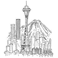 coloring pages skyline - photo#41