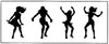 Stencil - Dancing Girls