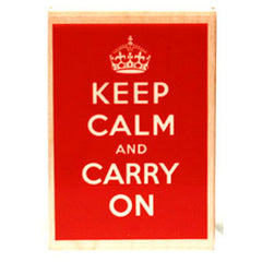 Keep Calm and Carry On Rubber Stamp (Solid)