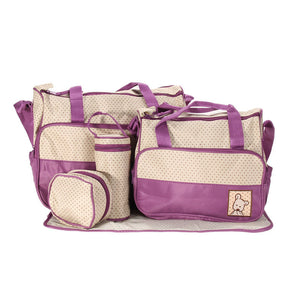 New! 5pc Diaper Bag Set. Great colors.