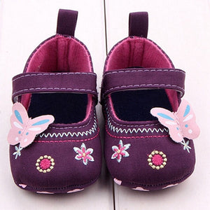 Girls First Walker Butterfly Soft Sole Shoes