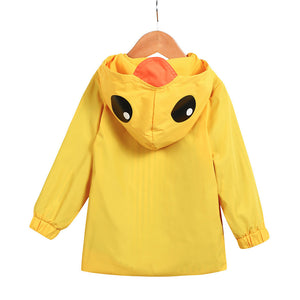 Baby Boy and  Girl Cartoon Hooded Raincoat 12m-5T