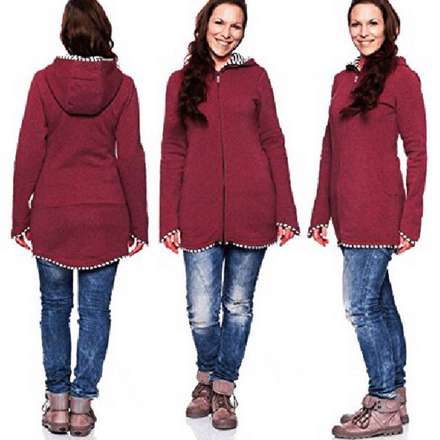Long Sleeve Winter Maternity Coat. 3 Colors! S-XXXL