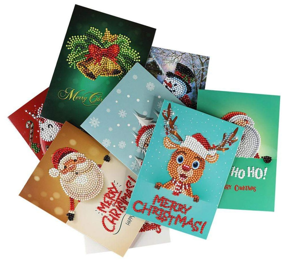 Best Christmas Greeting Cards DIY 5D Diamond Painting Set- On OFFER !!!