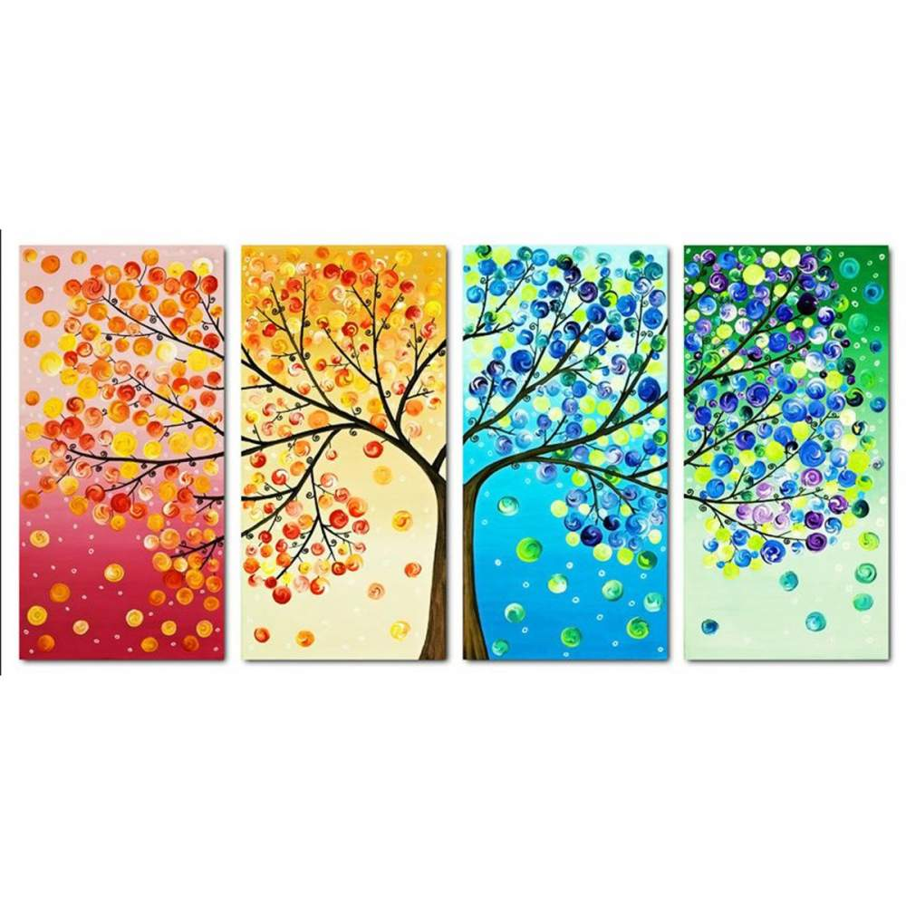 Diamond Painting-Partial Drill Colorful Tree