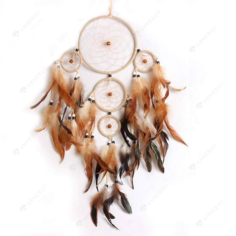 Dream Catcher-New Handmade Catcher With Feathers Wall Hang Decor