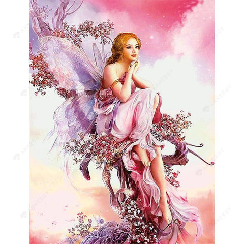 Diamond Painting-Partial Drill Fairy Butterfly