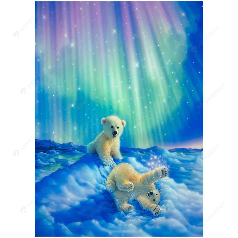 Diamond Painting-Partial Drill Two Polar Bear Hobbies