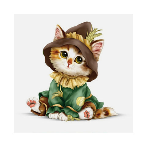 Diamond Painting-Partial Drill Cartoon Cute Cat