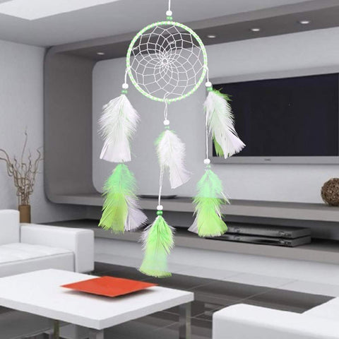 Dream Catcher-Mix Color Feathers Catcher Wall Hang Home Car Decor Craft