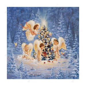 Diamond Painting-Partial Drill Christmas Four little Angels