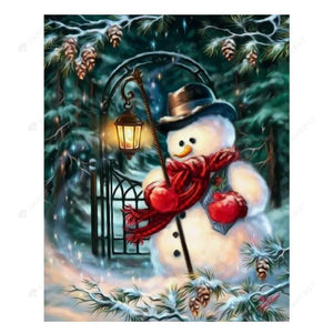 Diamond Painting-Partial Drill Christmas Snowman