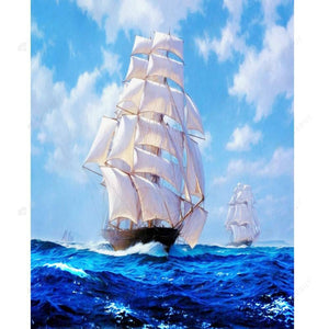 Diamond Painting-Partial Drill Sailing