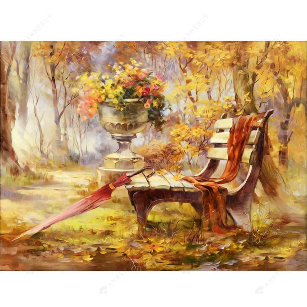 Diamond Painting-5D Full Drill Autumn