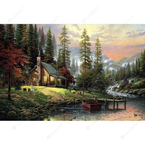 Paint By Numbers-Rural Landscape 40x30cm DIY Paint By Numbers Oil Painting Kits