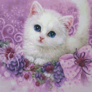 Diamond Painting-Partial Drill Cute Little Cat