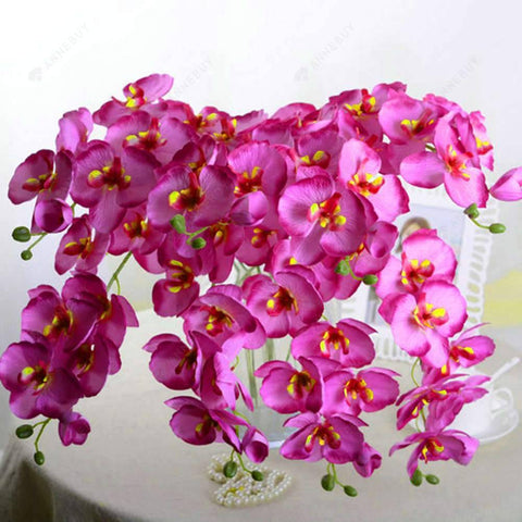 Artificial Flower-DIY Butterfly Orchid Silk Flower Home Room Decor