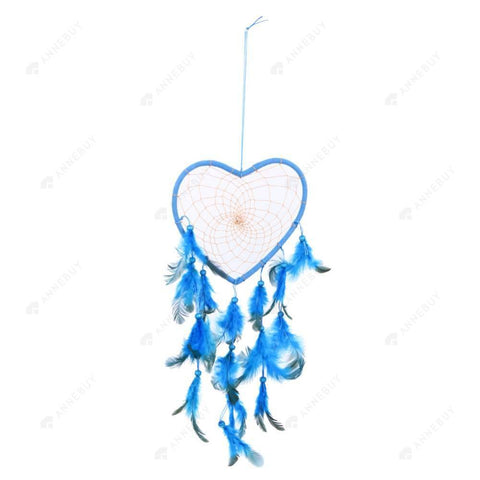 Dream Catcher-Handmade Blue Feathers Catcher Home Decor