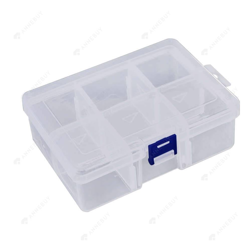 Drill Storage Box-6 Removable Plastic Fashion Drill Storage Box