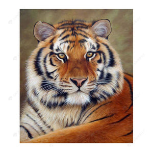 Diamond Painting-Partial Drill Tiger Tiger