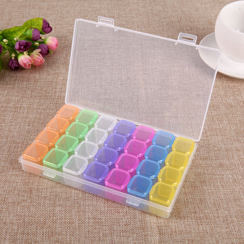 Drill Storage Box-28 Slots Bead Storage Box