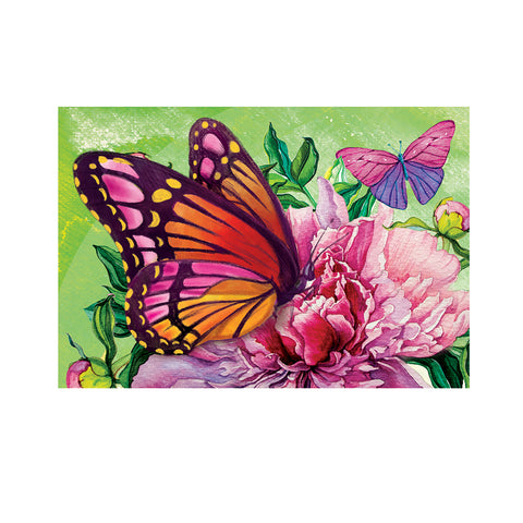 Diamond Painting-Partial Drill Butterfly Flower