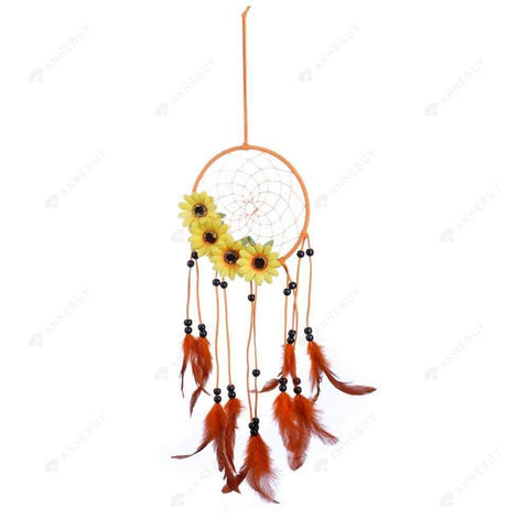 Dream Catcher-Pastoral Wind Sunflower Catcher Feather