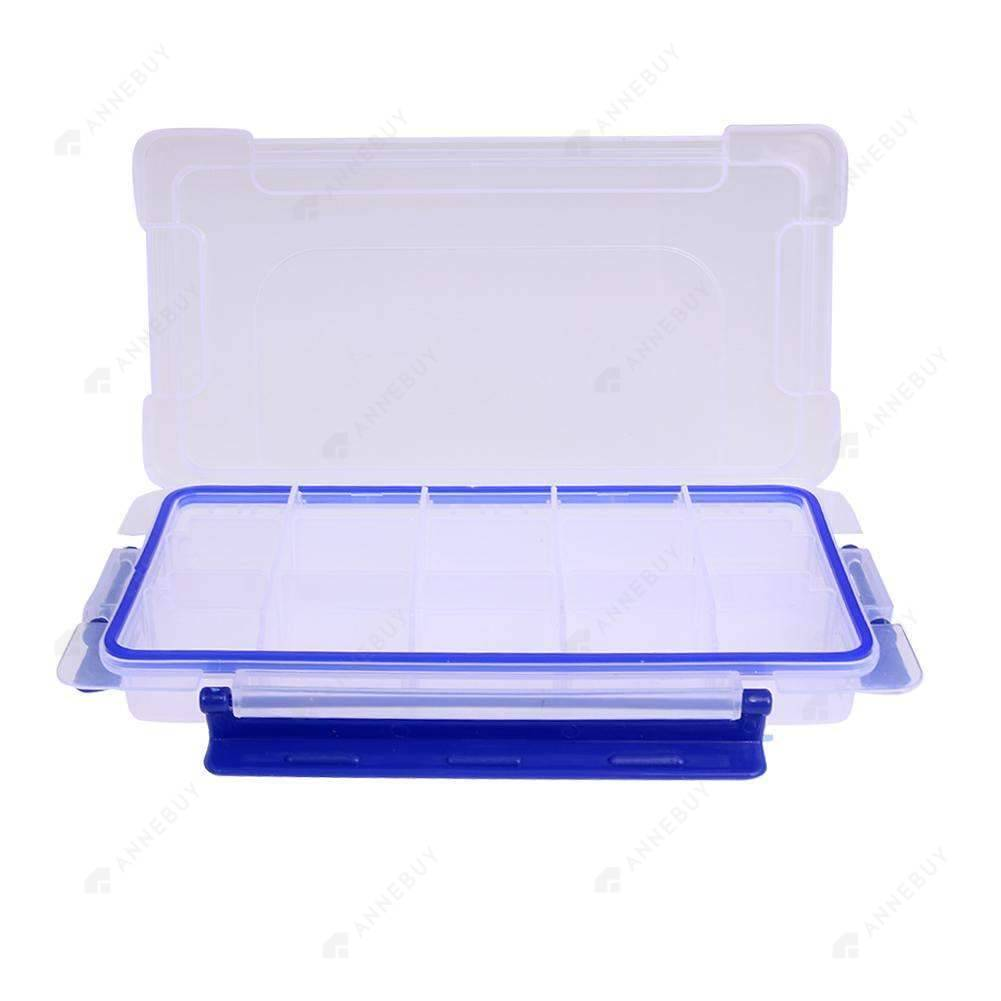 Drill Storage Box-15 Slots Clear Plastic Fashion Drill Storage Box