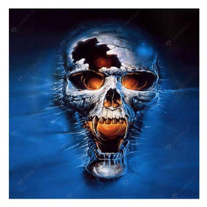Diamond Painting-Partial Drill Skull Halloween