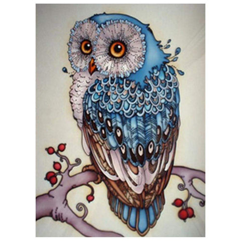 Diamond Painting-Partial Drill Owl
