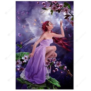 Diamond Painting-Partial Drill Butterfly Fairy