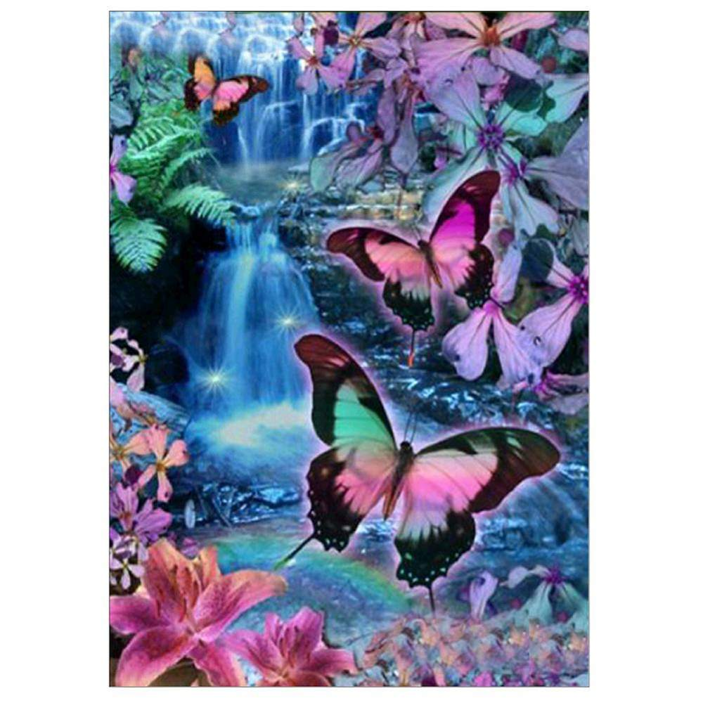 Diamond Painting-Partial Drill Colorful Butterfly