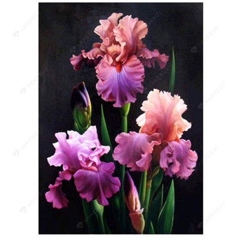 Diamond Painting-Partial Drill Flowers