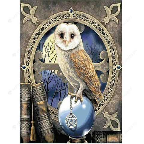 Diamond Painting-Special Shaped Partial Drill Owl