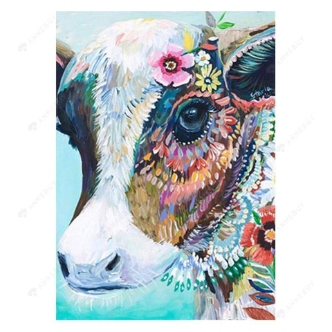 Diamond Painting-5D Full Drill Cow