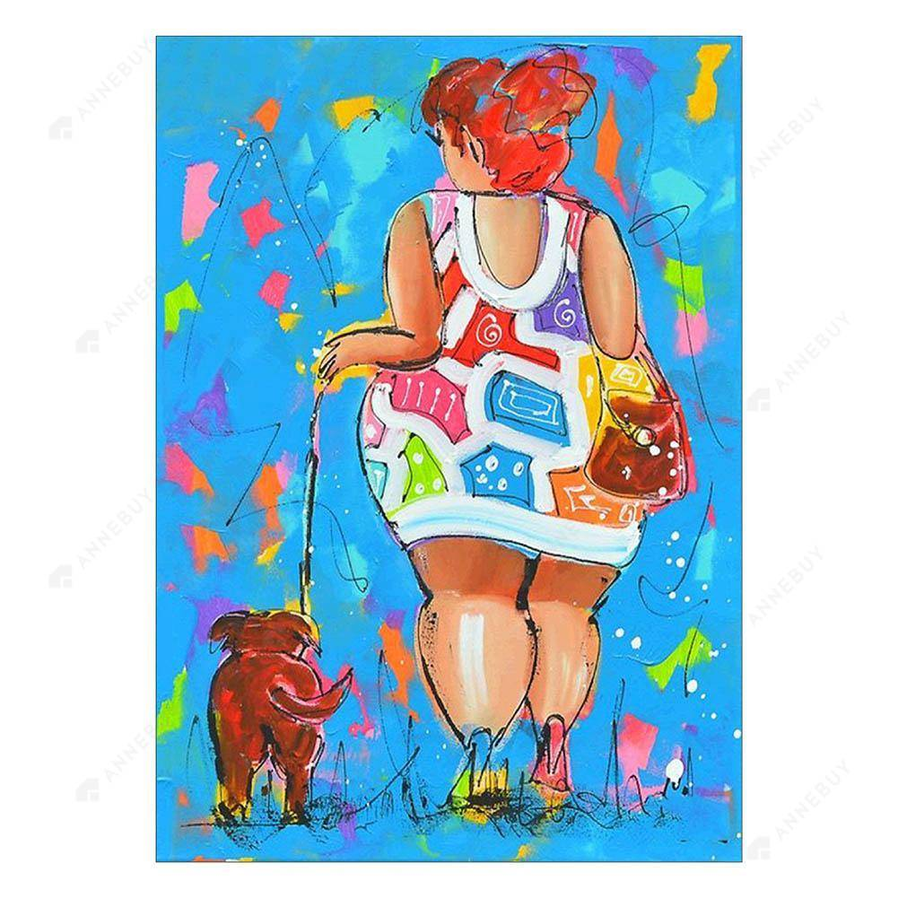 Diamond Painting-Partial Drill Walk the Dog