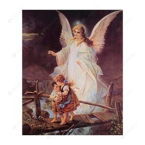 Diamond Painting-Partial Drill Guardian Angel