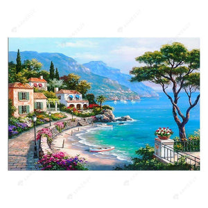 Diamond Painting-5D Full Drill Seaside City
