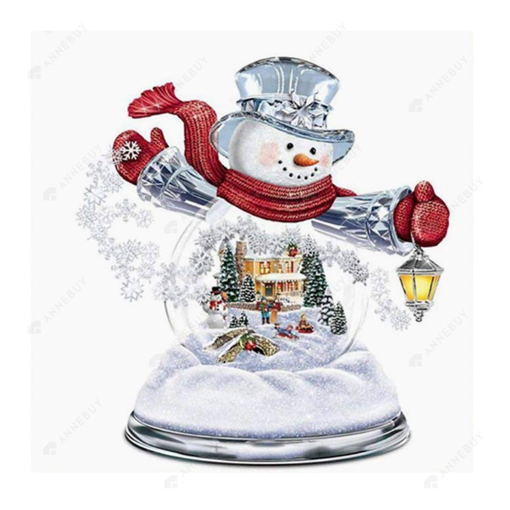 Diamond Painting-Partial Round Drill Christmas Snowman
