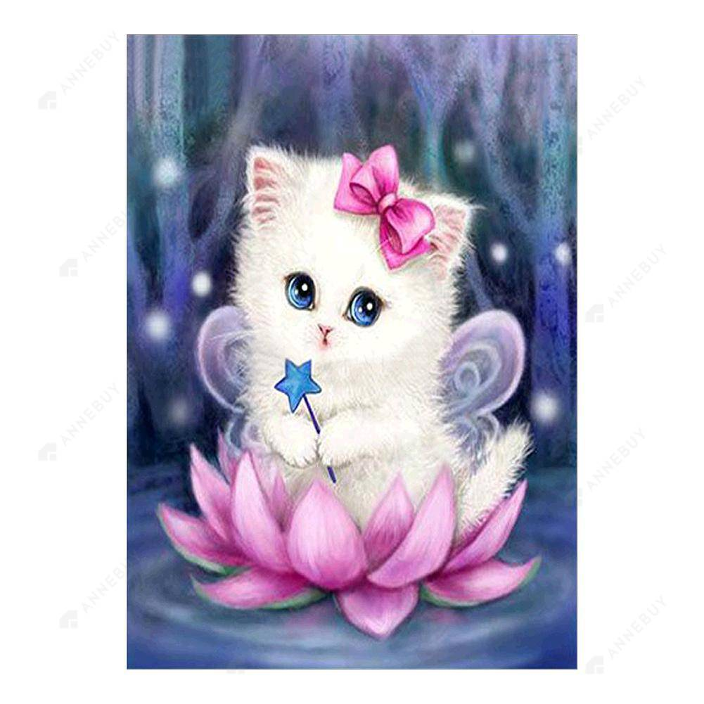Diamond Painting-Partial Drill Cute Cat