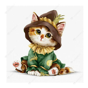 Diamond Painting-Partial Drill Cute Cat Cartoon